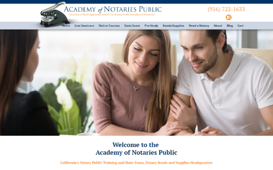 Visit Academy of Notaties Public. This link opens new windows.