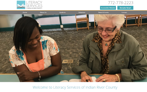 Visit Academy of Literacy Services of Indian River County. This link opens new windows.