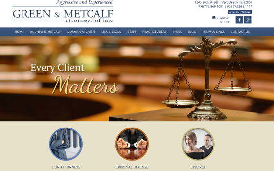 Green and Metcalf Homepage. This link opens new window.