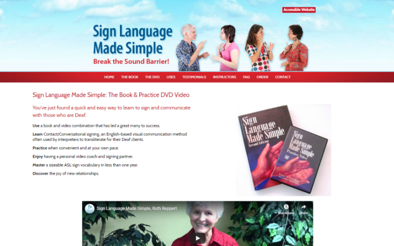 Visit Sign Language Made Simple. This link opens new windows.