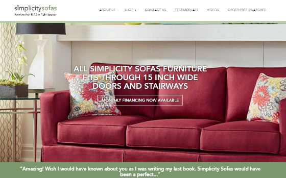 Click here to visit the Simplicitysofas.com website (Opens new window). This links to a site that may not be accessible for the visually impaired.