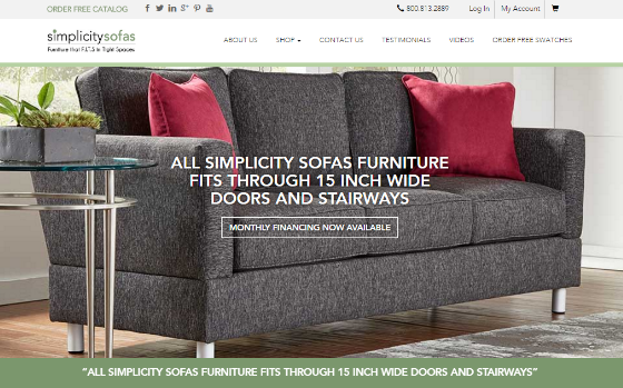 Simplicity Sofa. This link opens new window.