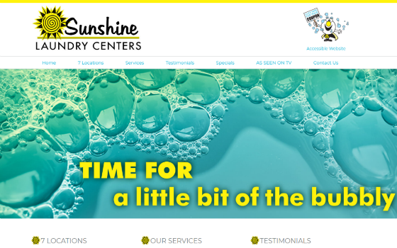 Visit Sunshine Laundries. This link opens new windows.