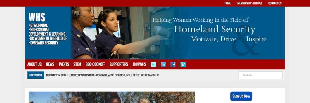 WomenInHomeLandSecurity Screenshot Website Example