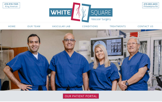 White Square Vascular Surgery. Opens new window.